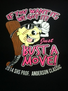 bust A Move Girl softball t shirt artwork